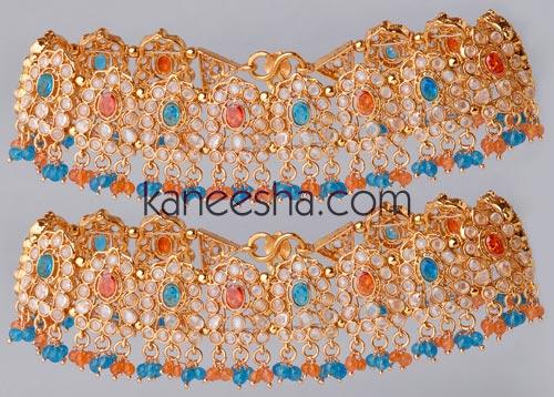 turquoiseorange-gold-plated-polki-anklets-ajw07181_large